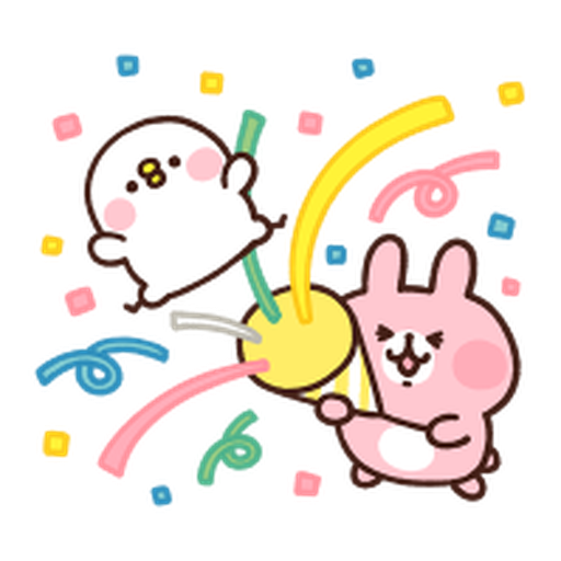 Kanahei Piske Usagi Celebrate 2 - Sticker 9
