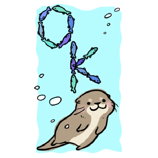 Otter's otter big sticker - Sticker 4