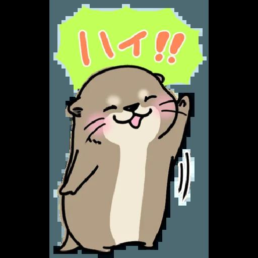 Otter's otter big sticker - Sticker 6