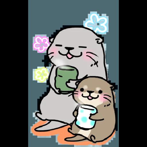 Otter's otter big sticker - Sticker 27