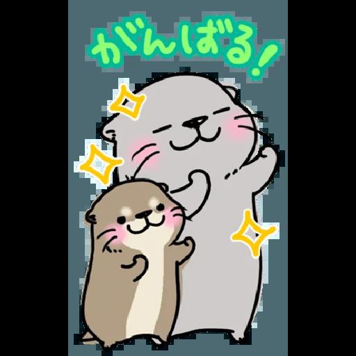 Otter's otter big sticker - Sticker 12