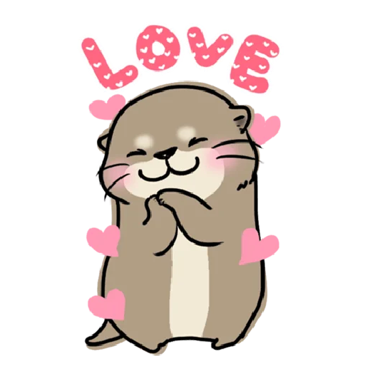 Otter's otter big sticker - Sticker 19
