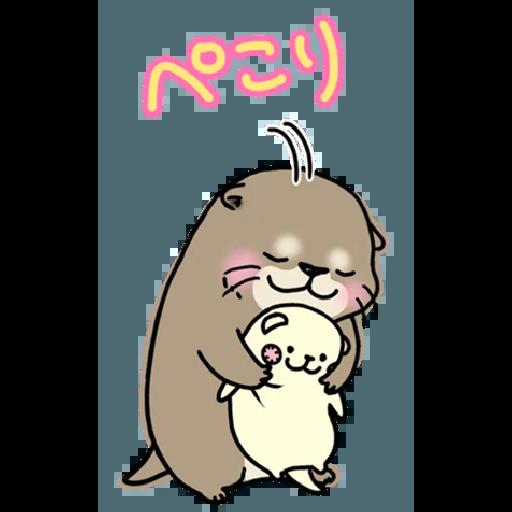 Otter's otter big sticker - Sticker 10