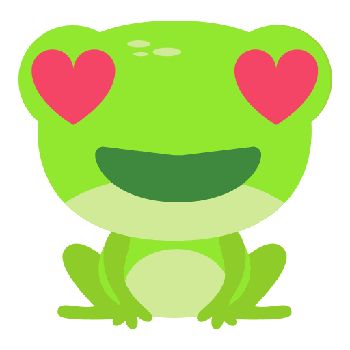 The Funniest Baby Frog - Tray Sticker
