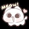 Marshmallow Puppies kitty! 2 by carina - Tray Sticker