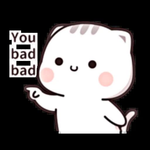 Cutie Cat Chan E - Sticker 13