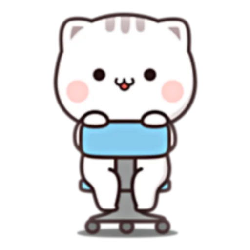 Cutie Cat Chan E - Sticker 1