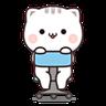 Cutie Cat Chan E - Tray Sticker
