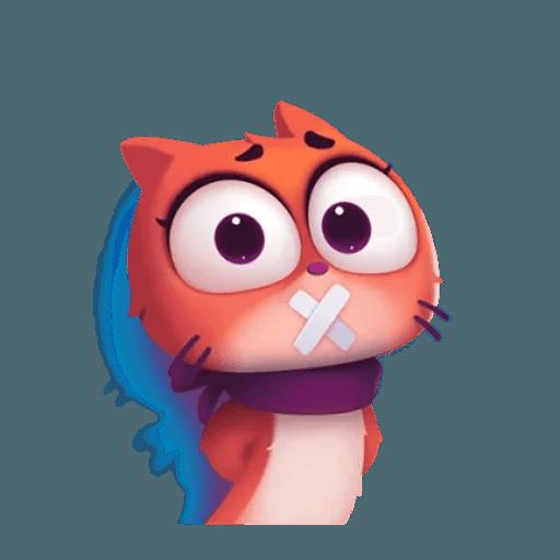 3D Cat - Sticker 19