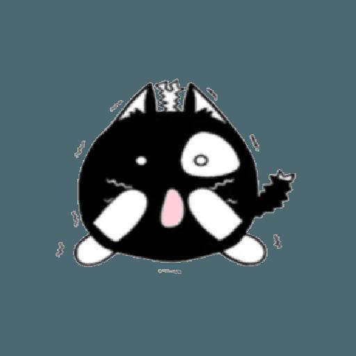 lonely black cat - Sticker 19