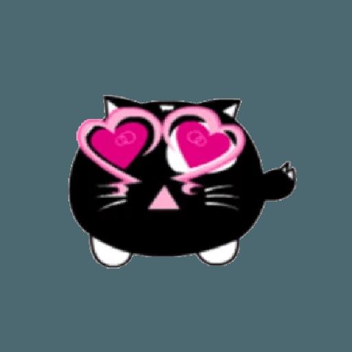 lonely black cat - Sticker 5