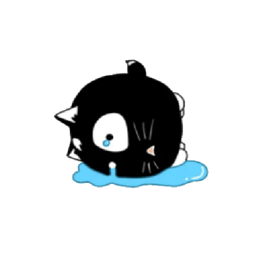 lonely black cat - Sticker 11