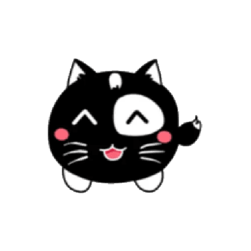 lonely black cat - Tray Sticker