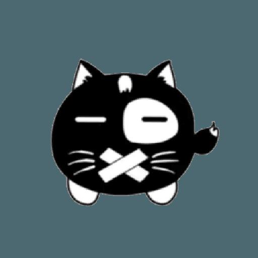 lonely black cat - Sticker 3