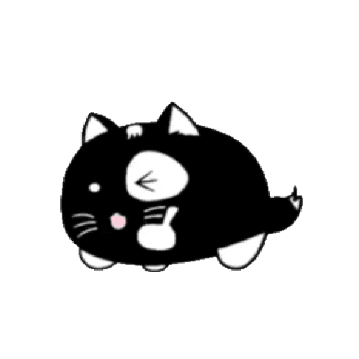 lonely black cat - Sticker 17