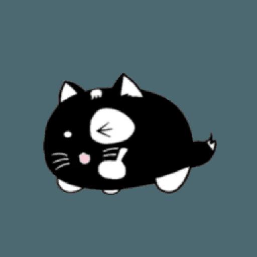 lonely black cat - Sticker 17