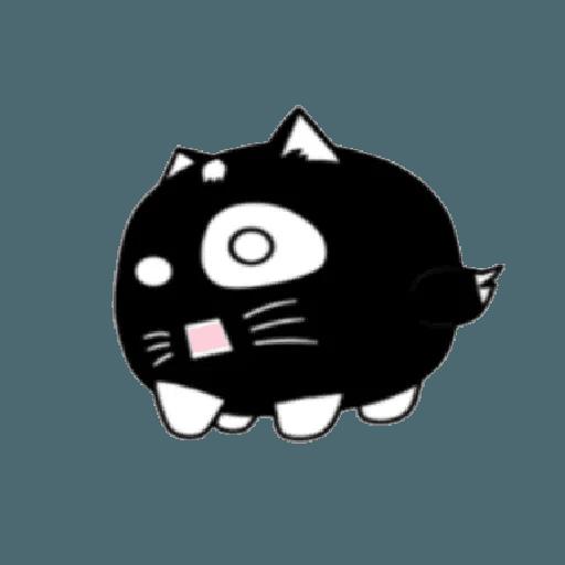 lonely black cat - Sticker 7