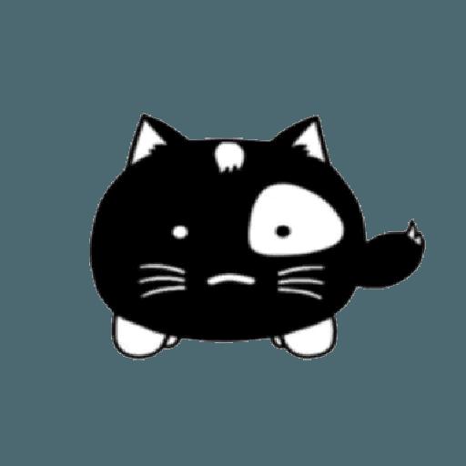 lonely black cat - Sticker 2
