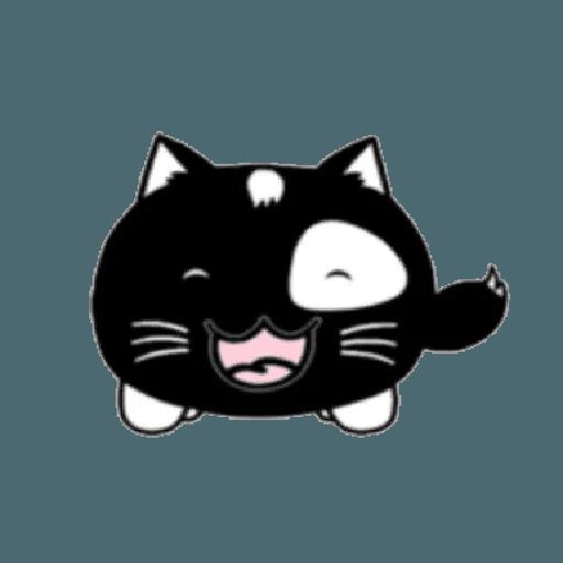 lonely black cat - Sticker 22
