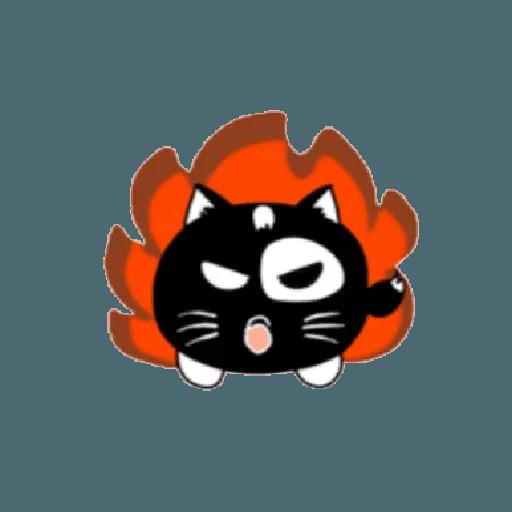 lonely black cat - Sticker 14