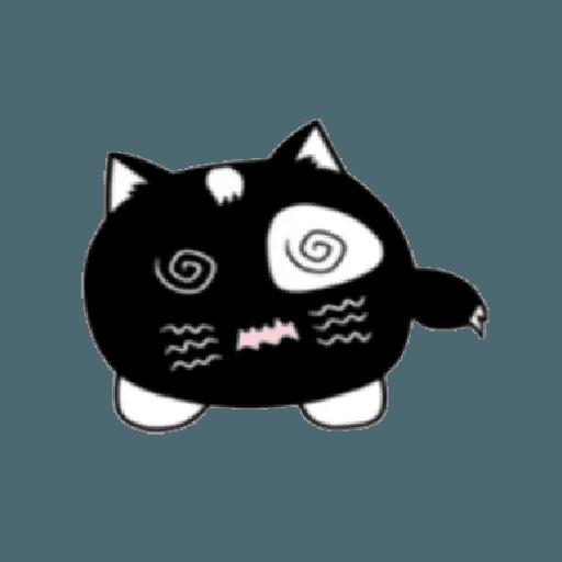 lonely black cat - Sticker 16