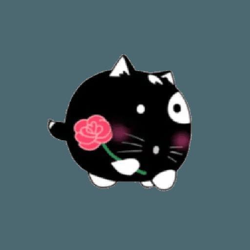 lonely black cat - Sticker 8