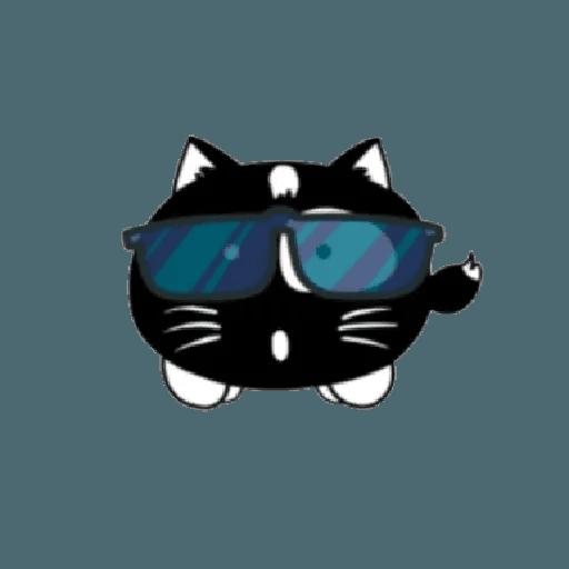 lonely black cat - Sticker 18