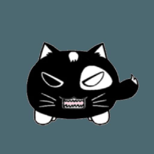 lonely black cat - Sticker 9
