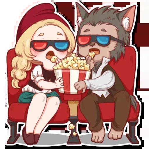 Wolf love - Sticker 21