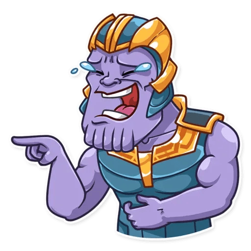 Thanos - Tray Sticker