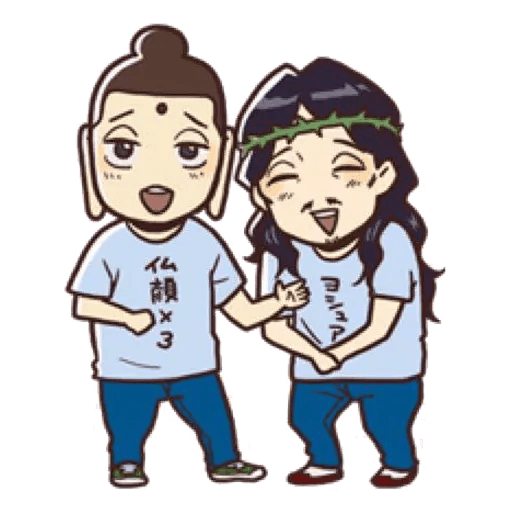 Saint Young Men - Sticker 1