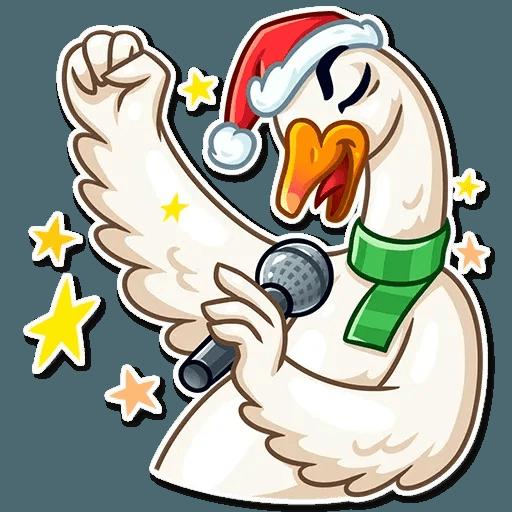 Christmas Goose - Sticker 7