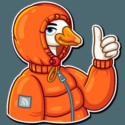 Christmas Goose - Sticker 3