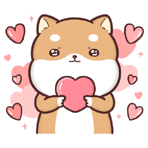 Shiba Inu PIPI's life-Valentine's day by Liz - 1 - Tray Sticker