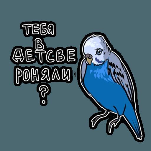 Попугаи - Sticker 19