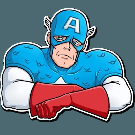 60's Captain America - Sticker 5