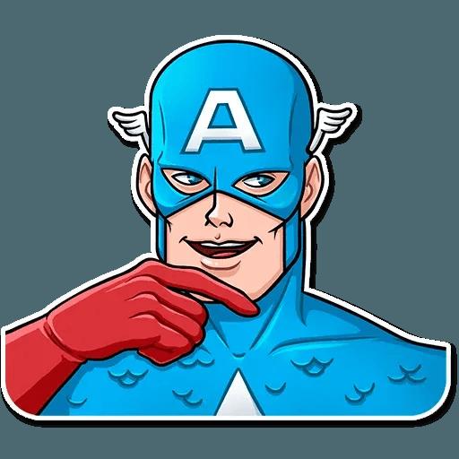 60's Captain America - Sticker 21