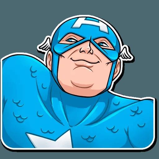60's Captain America - Sticker 7