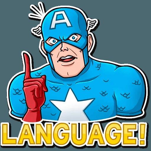 60's Captain America - Sticker 15