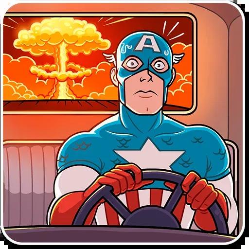 60's Captain America - Sticker 27