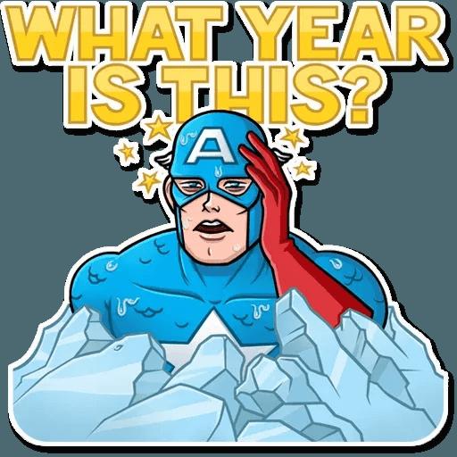 60's Captain America - Sticker 2