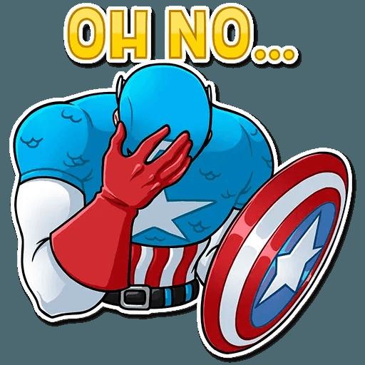 60's Captain America - Sticker 16