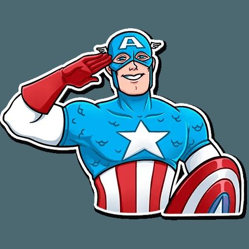 60's Captain America - Sticker 12