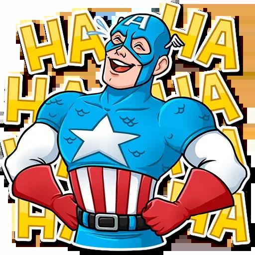 60's Captain America - Sticker 25