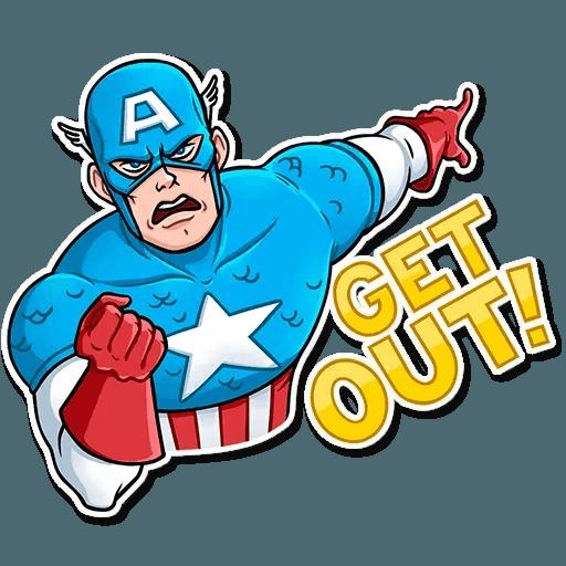 60's Captain America - Sticker 10