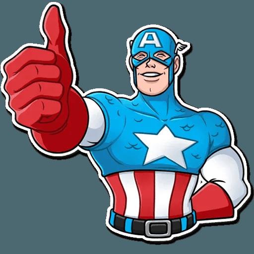 60's Captain America - Sticker 20