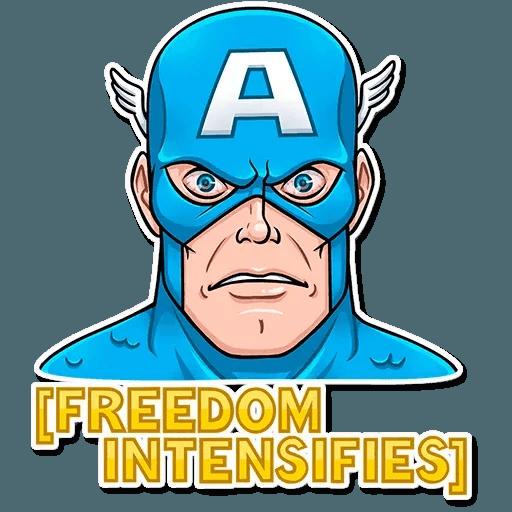 60's Captain America - Sticker 29