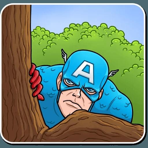 60's Captain America - Sticker 8