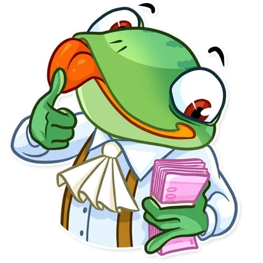 Banker Frog - Sticker 10