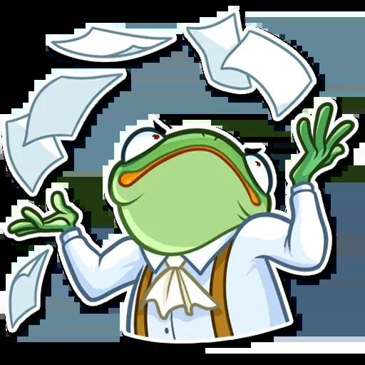 Banker Frog - Sticker 29